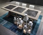 Migani ITALY STONE WOOD TABLE 100x270 cm