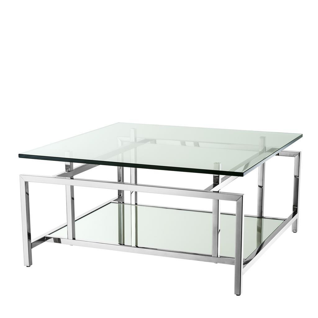 - Eichholtz Coffee Table Superia * Polished Stainless Steel Clear