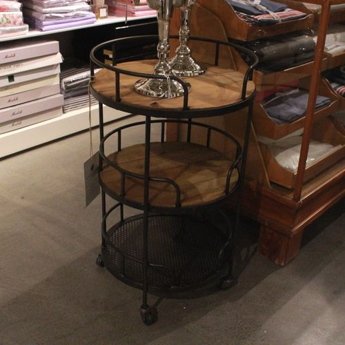 Migani METAL ROUND SIDETABLE ON WHEELS