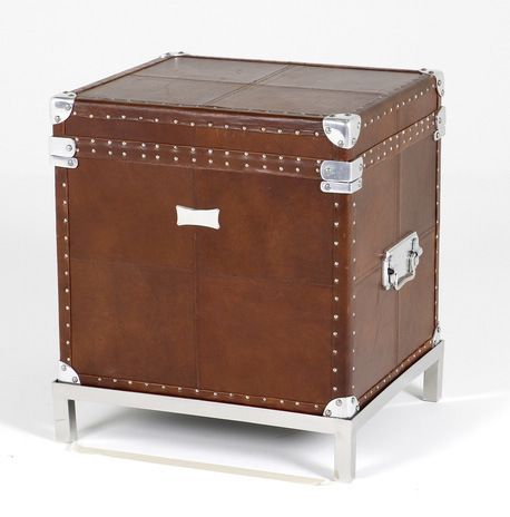 Hazenkamp Trunk Antique Brown. Steel/Leather