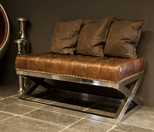 Hazenkamp Coffee Table I  Leather Brown Airplane Furniture