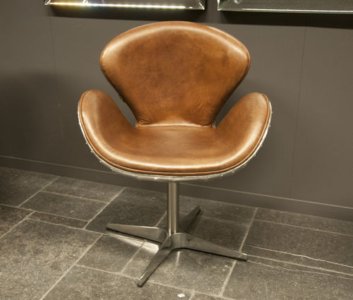 Hazenkamp Chair Airplane Furniture Alu/Leather Brown