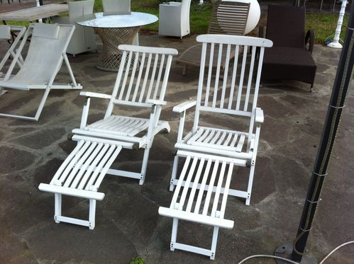 Migani ITALY OXFORD DECK CHAIR WHITE