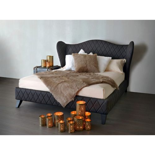 Migani ITALY ROMANCE BED DRAGON DARK BROWN