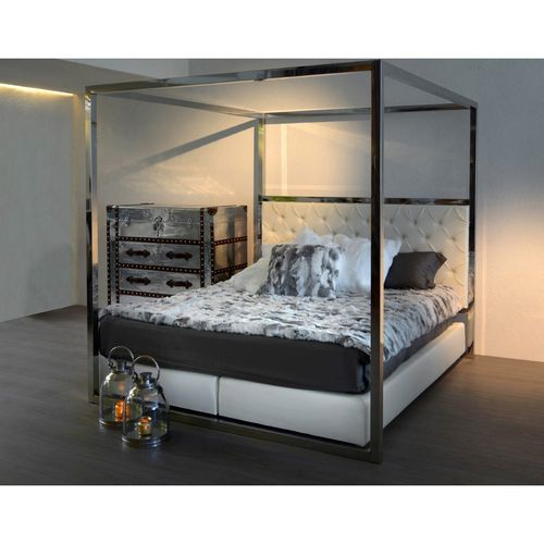 Migani SENSIBILITY BED SKAI WHITE STAINLESS STEEL