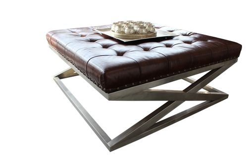 Migani ITALY AURIGA LEATHER COFFEE TABLE