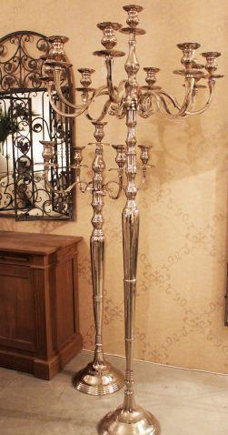 Migani ITALY BIG NINE ARM CANDELABRA 150cm. WHITE
