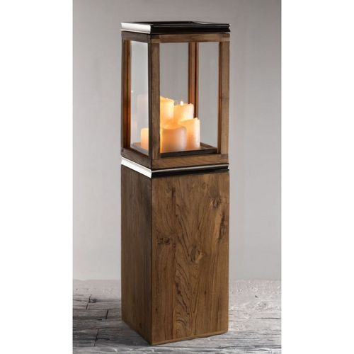 Migani ITALY ALIA LANTERN WITH WOOD PLANTER