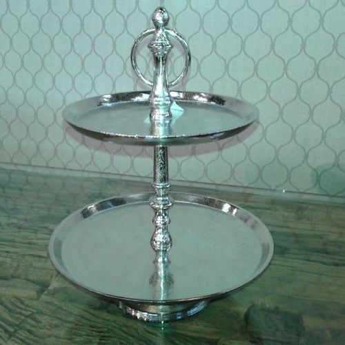 Migani ITALY ALUMINIUM 2 TIER PLATE STAND size S