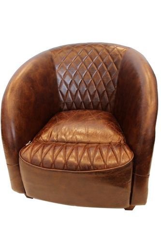 Migani ITALY ARIES LEATHER 1 SEATER CHAIR