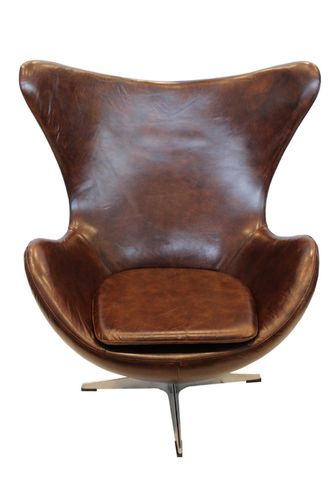 Migani ITALY ANDROMEDA LEATHER SWIVELING CHAIR