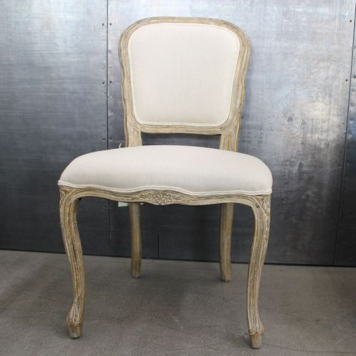 Migani ITALY LINEN WOOD CHAIR LOUVRE