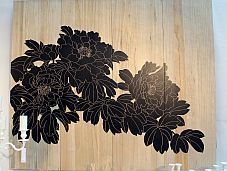 Migani ITALY WOOD PANEL FLOWERS 150x180 cm