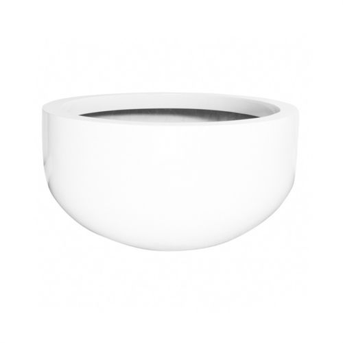 Pottery Pots City bowl L, Glossy White 128 cm
