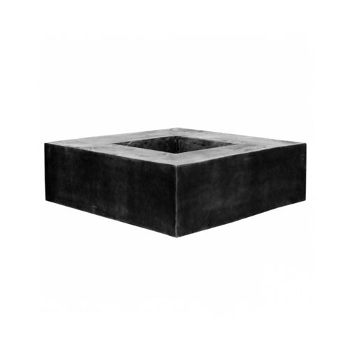 Pottery Pots Jort Seating Square Fiberstone Black 140x140x47,5