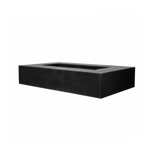 Pottery Pots Jumbo Seating Low, 250x150x50 cm, Fiberstone Black