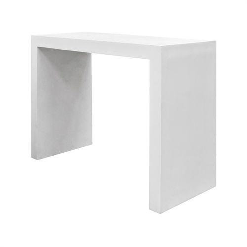 Pottery Pots Table, Fiberstone Lux, Glossy White 150x60x110
