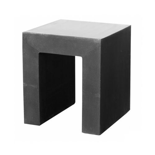 Pottery Pots Chair, Fiberstone Black 40x40x45