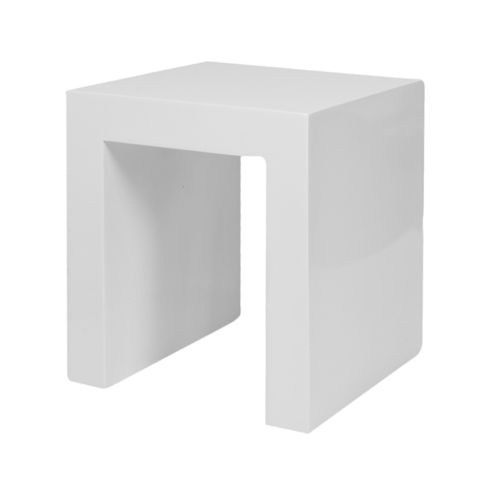 Pottery Pots Chair, Fiberstone Glossy White 40x40x45