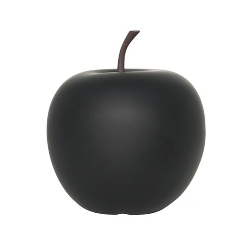 Pottery Pots Apple M, Matt Black 33x33x35 3,2kg