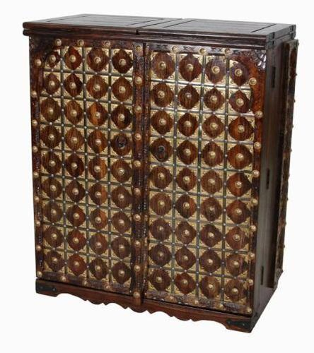Jaipur Ganga Compact Bar Unit  With Iron & Brass Work 109 90 51 cm