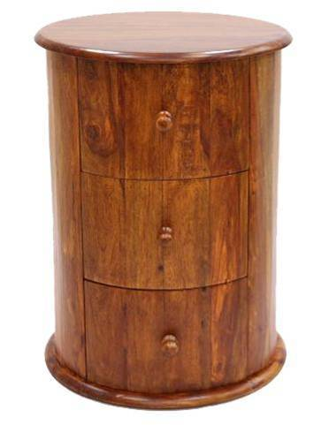 Jaipur Ganga Round 3 Drawer Chest 60 45 45 cm