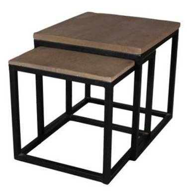 Jaipur Shipra Nest Of 2 Tables  50 50 50 cm