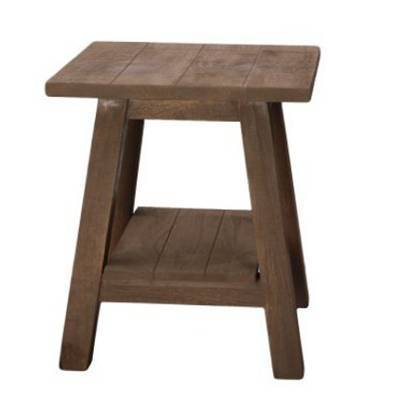 Jaipur Indus Stool With Shelf  52 45 45 cm