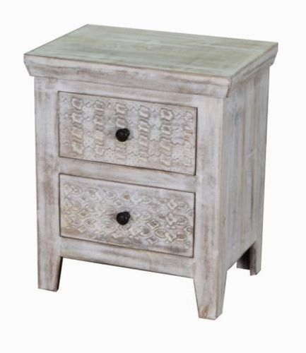 Jaipur Mandakini 2 Drawer Bed Side  Table  60 50 35 cm