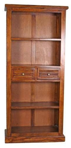 Jaipur Narmada 2 Drawer Large  Book Case Shisham 175 85 35 cm