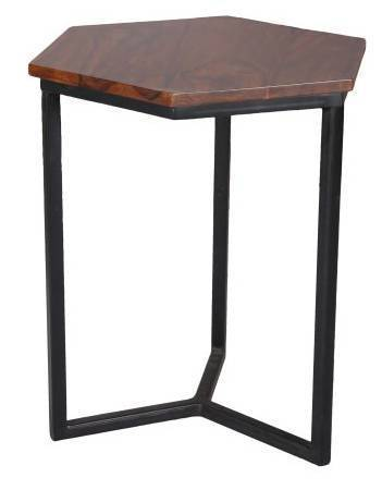 Jaipur Ravi Hexagnol Lamp Table  Matel Base  50 44 39 cm