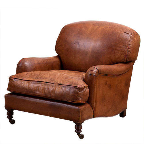 EICHHOLTZ Chair Highbury Estate Tobacco leather | brown legs