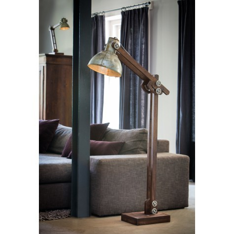 Light & Living Stehleuchte 84x16x125 cm EDWARD Holz braun+vintage Silber