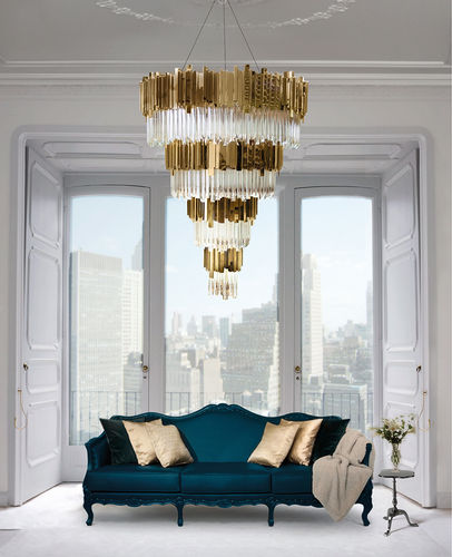 EMPIRE CHANDELIER Gold Plated -sofort lieferbar-