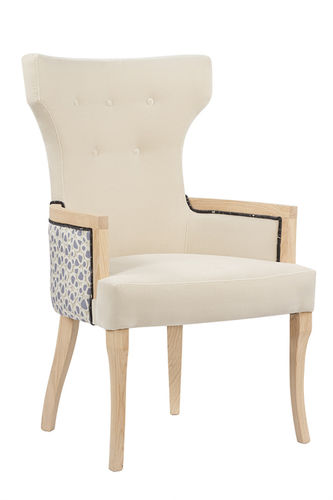 "Green Apple Chair with Arms ""Line"" creme"
