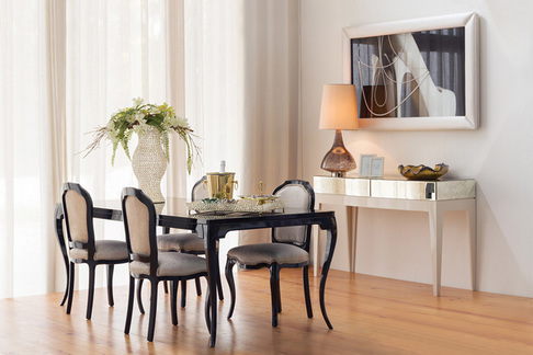 "Green Apple Dining Table ""Veneza"" M black"
