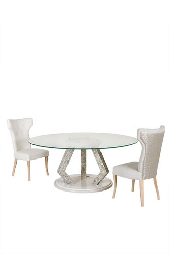 "Green Apple Round Dining Table ""Bohemia"" creme"