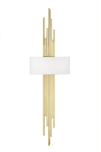 "Green Apple Wall Lamp w/Shade ""Moreira"" gold - white"