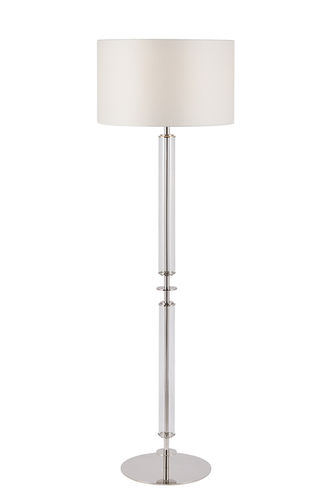 "Green Apple Floor Lamp w/Shade ""Valverde"" M steel/glass/creme"