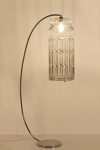 "Green Apple Floor Lamp w/Bird Cage ""Wendler"" L"