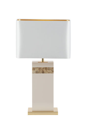 "Green Apple Table Lamp w/Shade ""Oceanus"" white-blue"