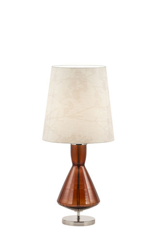 "Green Apple Table Lamp w/Shade ""Assis"" M red"
