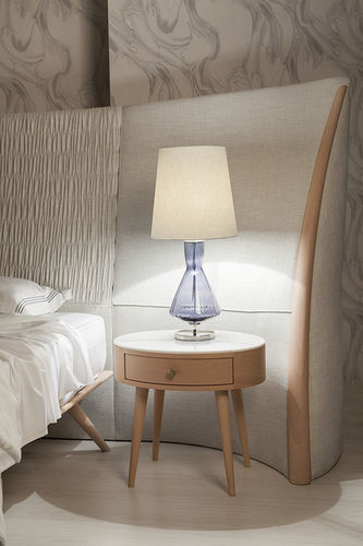 "Green Apple Table Lamp w/Shade ""Assis"" M light blue"