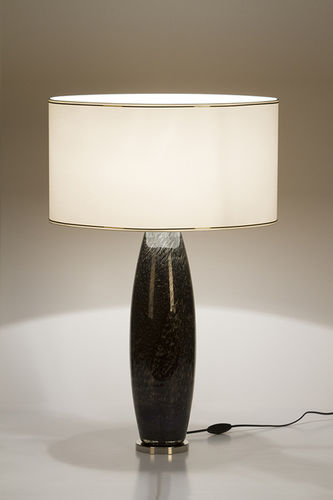 "Green Apple Table Lamp w/Shade ""Genaro"" black"