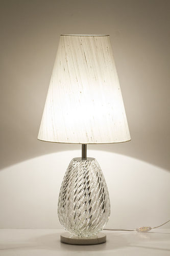 "Green Apple Table Lamp w/Shade ""Brito"""