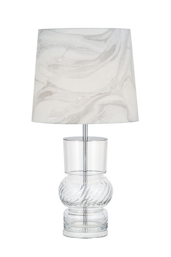 "Green Apple Table Lamp w/Shade ""Column"""