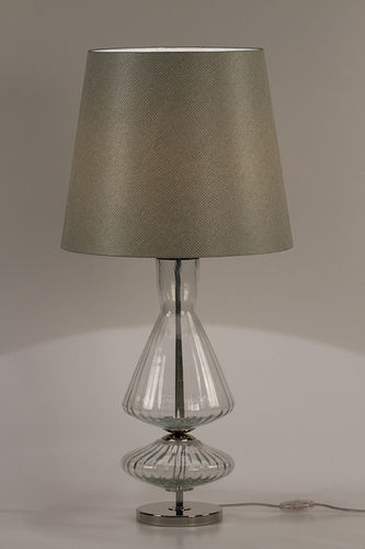 "Green Apple Table Lamp w/Shade ""Tobias"""