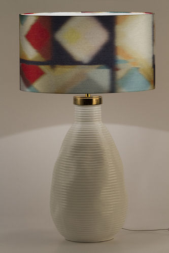 "Green Apple Table Lamp w/Shade ""Candeias"" L"