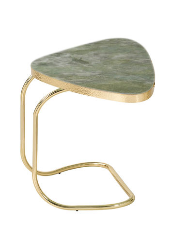 "Green Apple Side Table ""Cairo"" Green Crystal Marble"