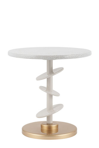 "Green Apple Side Table ""Áurea"" white - gold"